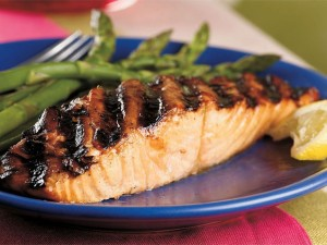 Grilled Salmon with Korean Barbecue Glaze (Coconut Sugar)