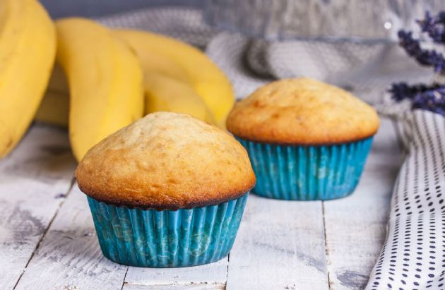 Pre (or Post) Game Banana Mini Muffins